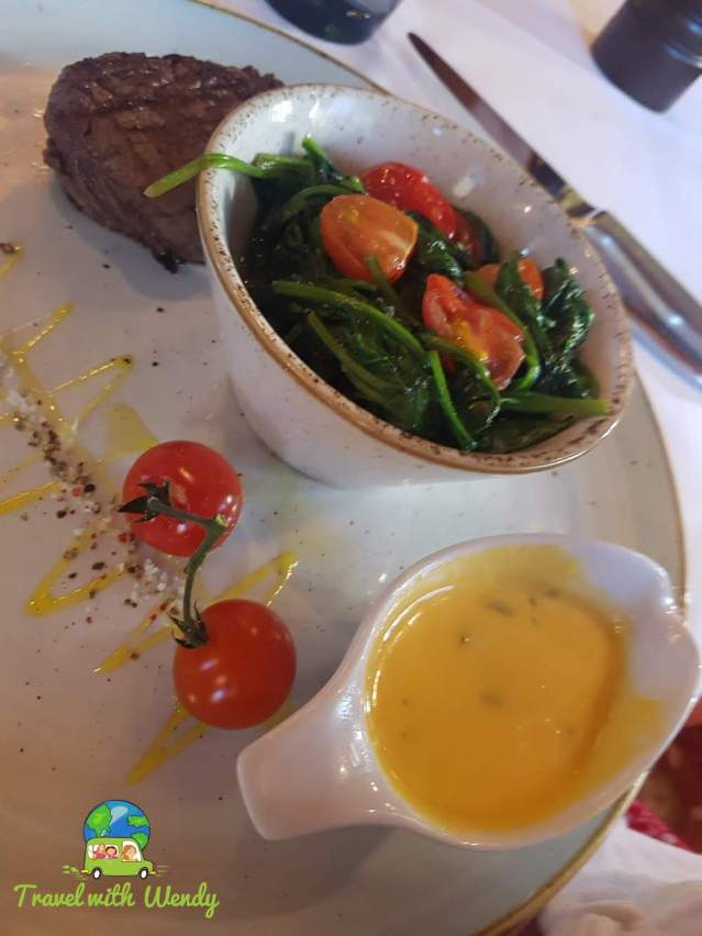 Petite Filet with Spinach