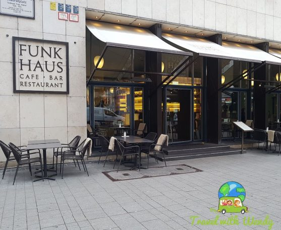 Courtyard cafe - Funk Haus, Cologne, Germany