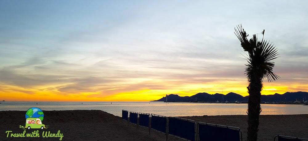Sunset on the Riviera