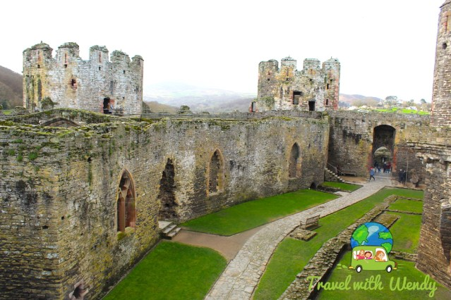 Massive grounds of Conwy