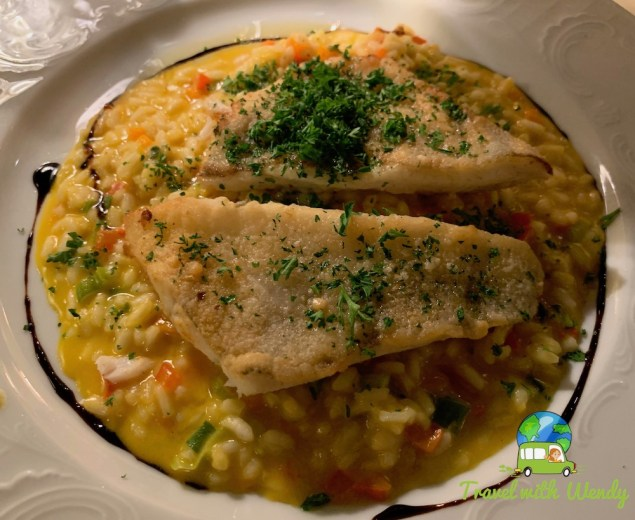 Lake Fish with pumpkin risotto