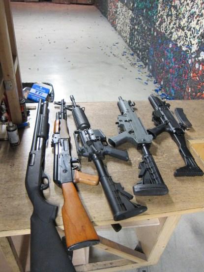 Remington 870, AK47, Colt M4A1, Heckler & Koch USC, Skorpion EVO3