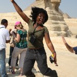 Travel Xena jumping Sphinx Giza Cairo Egypt