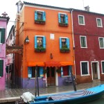 Burano-Italy-Orange-House-Blue-Shutters-TravelXena