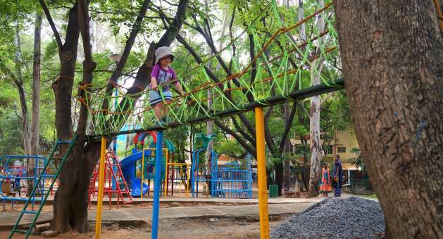 Playground, Bangalore with kids