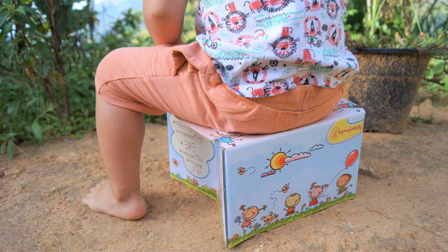 Potty training on holiday or when travelling