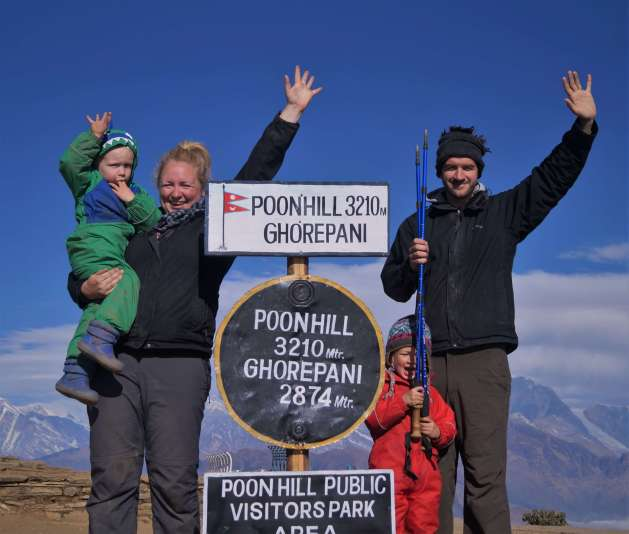 Poon Hill with kids