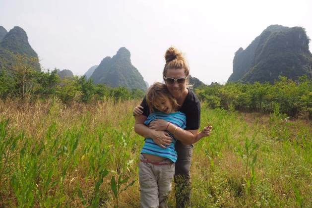 Yangshou with kids