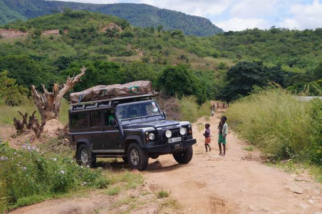 overlanding Africa with kids