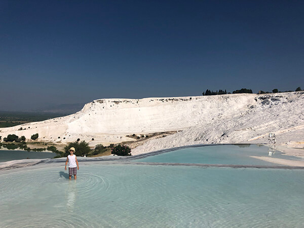Pamukkale with kids
