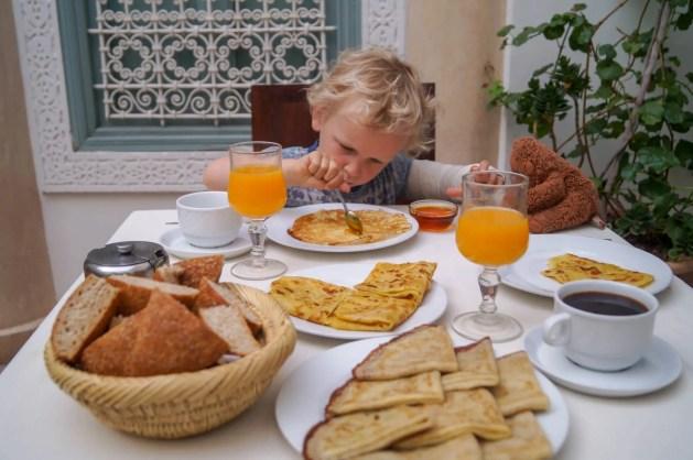 Riad Les Hibiscus breakfast