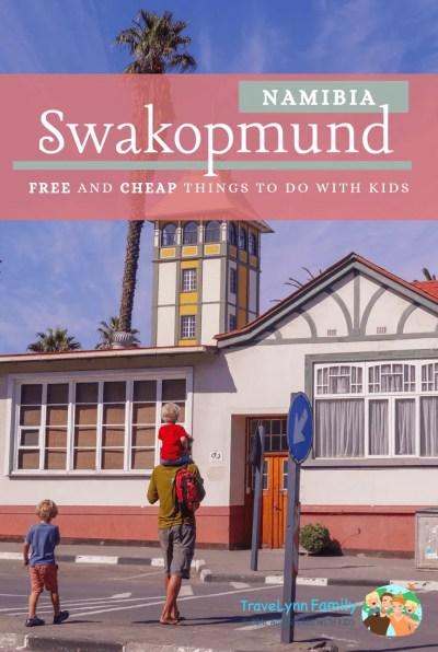 Swakopmund with kids pin