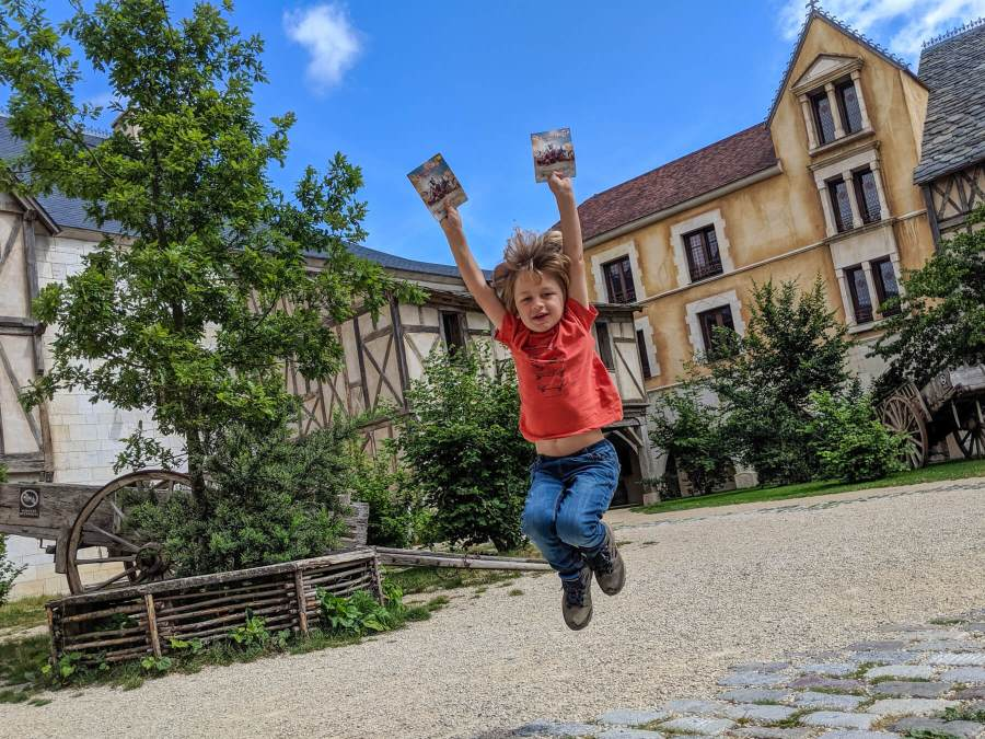 boy jumping at Puy du Fou