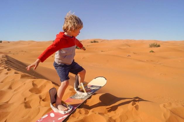 boy on sandboard