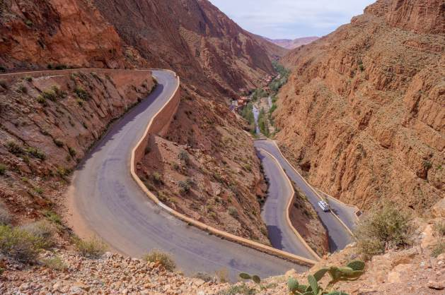 hair pin bends in Morocco