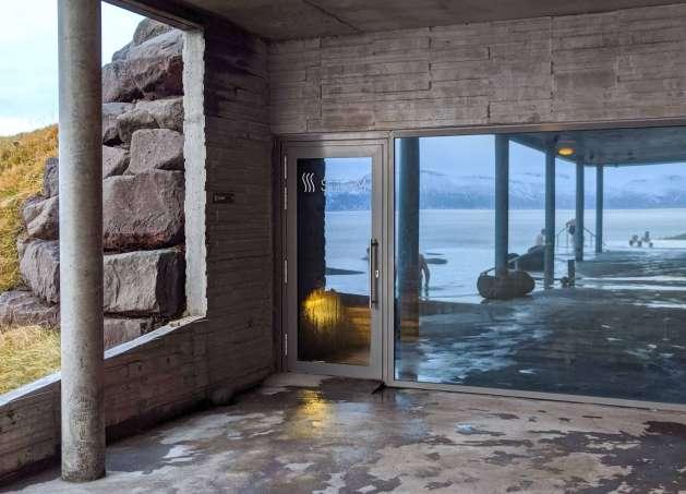 sauna at GeoSpa Husavik