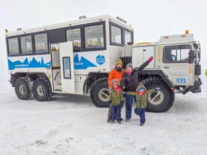 glacier truck for Into the Glacier tour