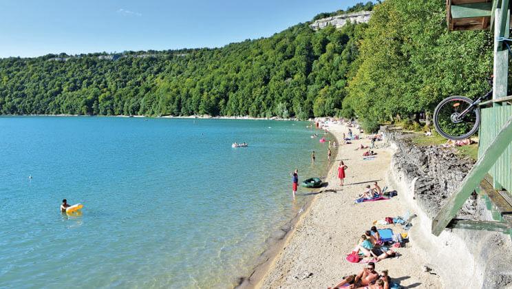 Jura campsite beach