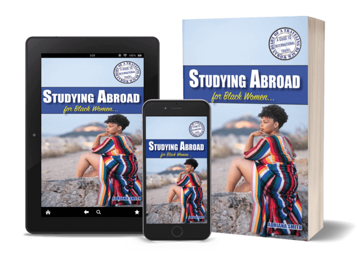 Studying Abroad for Black Women Book Cover available on Amazon