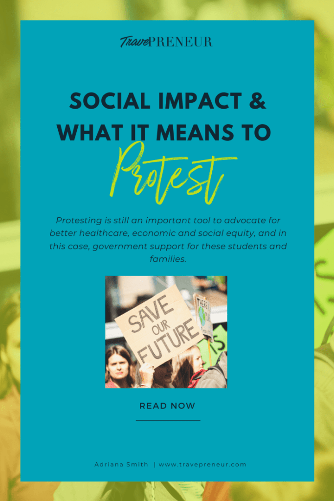 Pinterest Pin - Social Impact  What it means to protest