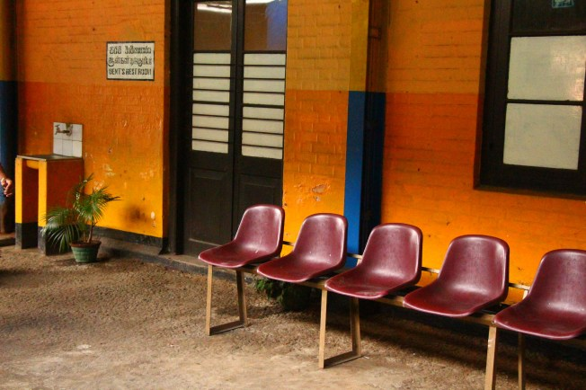 Just a colorful train station