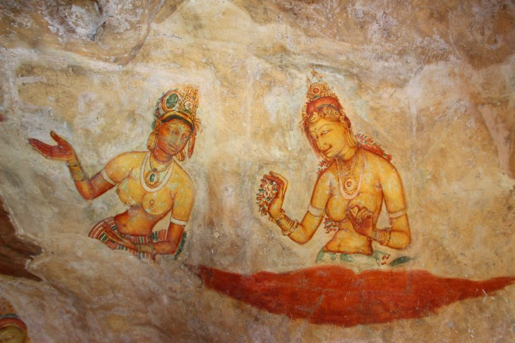 Frescos of the ancient women