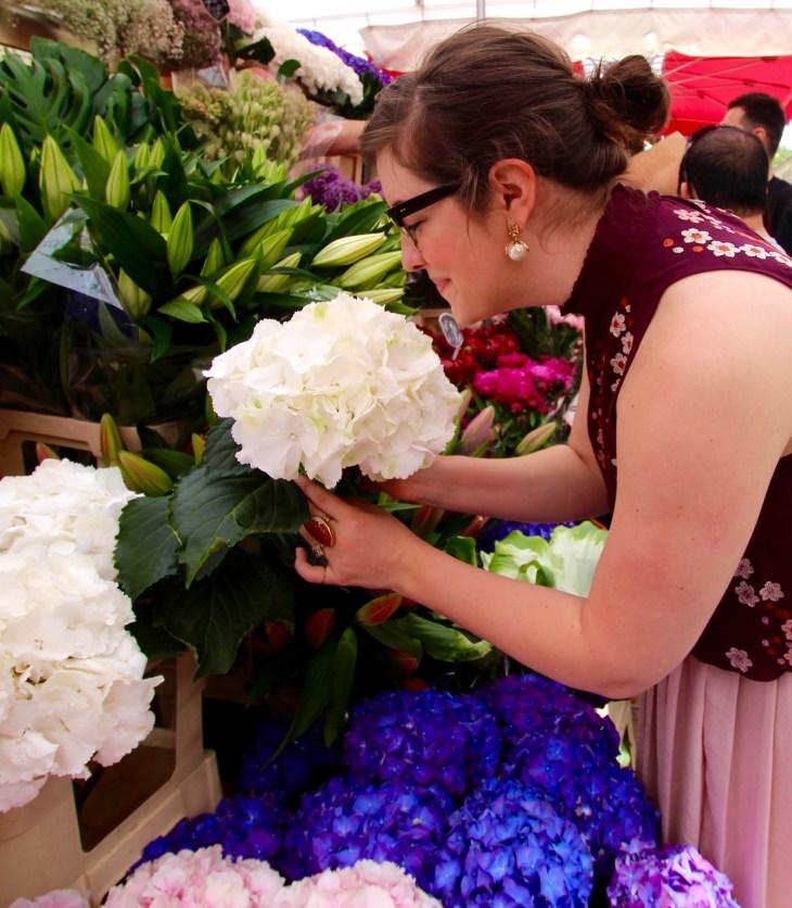 megan at flower market london