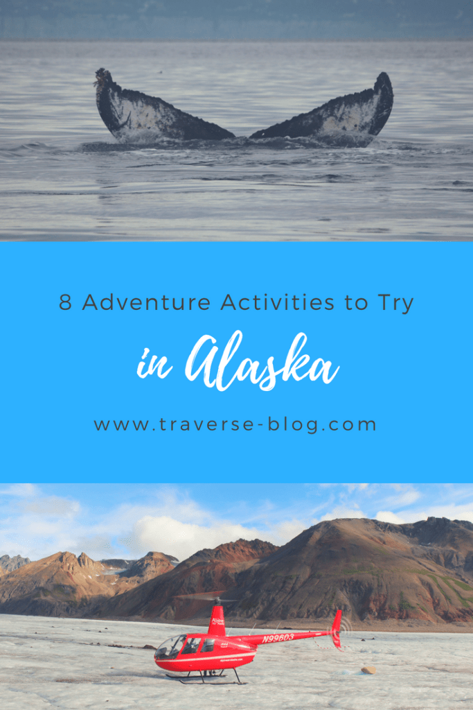 Planning an adventure vacation to Alaska? Here are 8 awesome outdoor adventures to try while traveling in Alaska. This list includes grizzly bear viewing, whale watching, glacier trekking, and more!