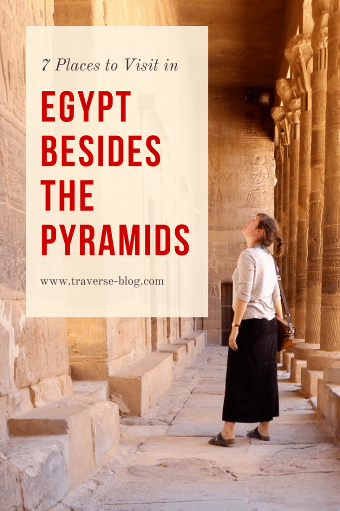 Curious what else there is to visit in Egypt besides the Pyramids? You might be surprised to learn that there is a lot of amazing history to travel to Egypt for. Find this travel blogger's 7 favorite spots to see in Egypt besides the Pyramids!