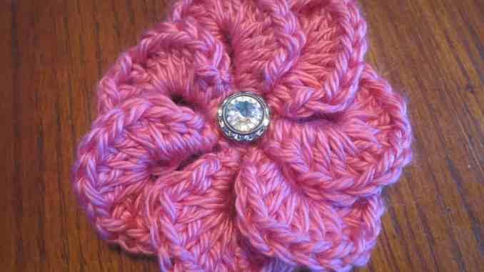 Flower Appliqu Free Crochet Pattern Free Crochet Flower Pattern