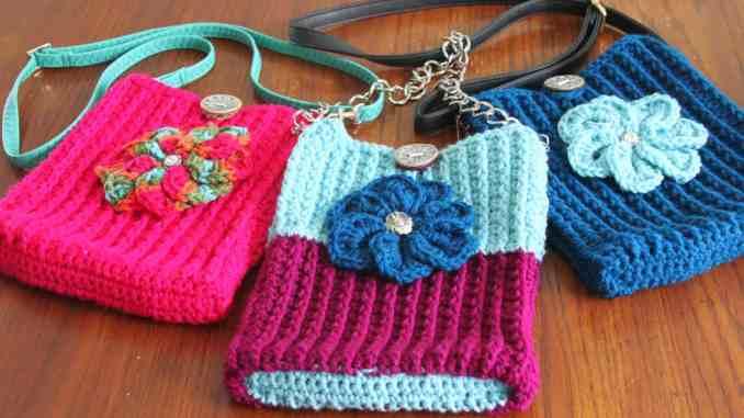 Free Textured Crossbody Bag Pattern Free Crochet Purse Pattern