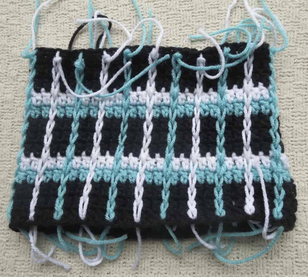 crochet stripe hat, free crochet pattern, crochet stripe beanie ...