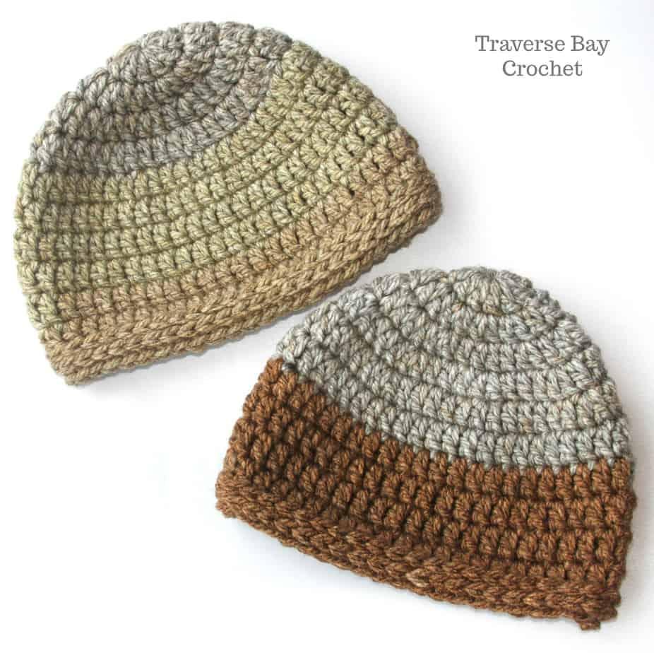 Chunky Caron Tea Cake Crochet Beanie |
