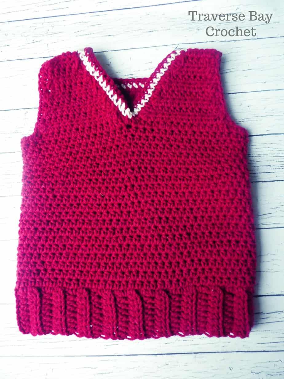 Simple Toddler Crochet Vest |
