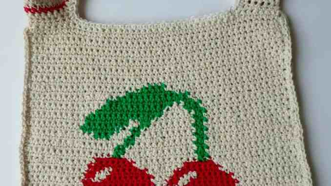 Crochet Cherry Tote Bag