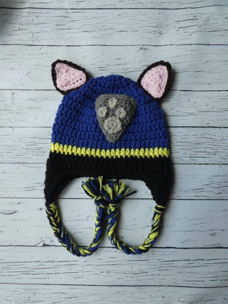 Chase Paw Patrol Hat  Mitten Set
