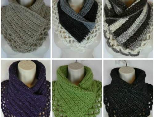 Crochet Lacey Charma Neck Warmer