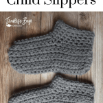 Easy Peasy Crochet Child Slippers Traversebaycrochet Com