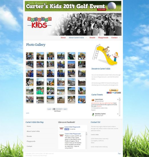 Carters_Kids_Michigan_Web_Design_Photo_Gallery_Page