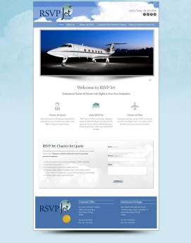 RSVP Jet - Business / Jet Company Branding
