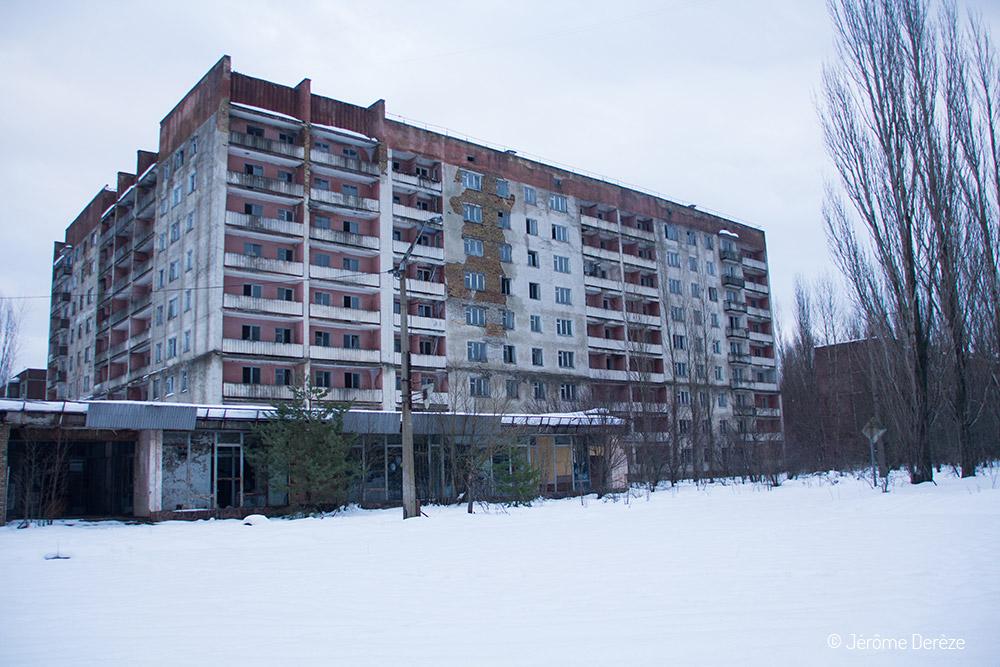 Ville de Prypiat et bâtiments abandonnés