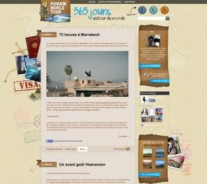 blog voyage romain world tour