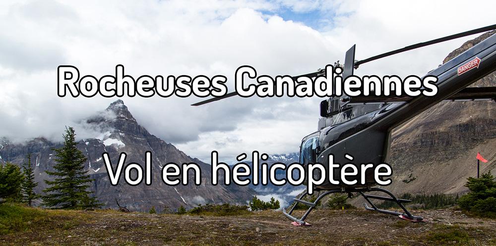 Vol en hélicoptère dans les Rocheuses