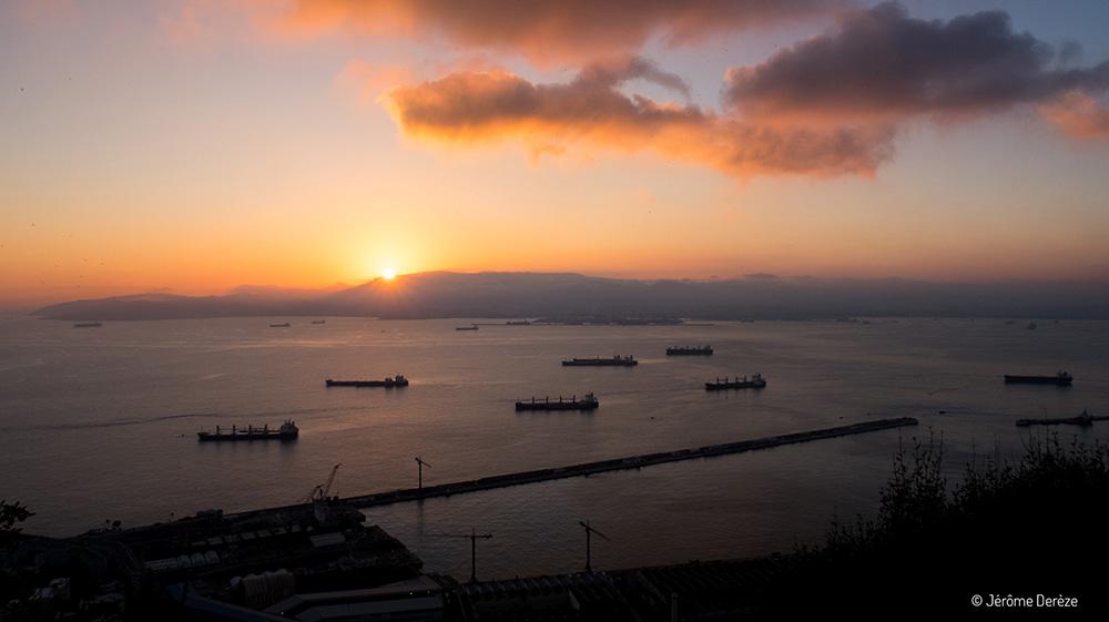 Coucher de soleil à Gibraltar