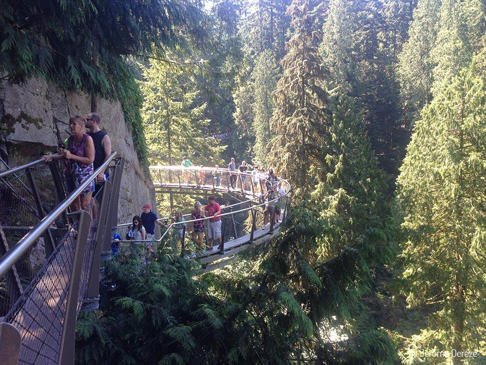 Voyager à Vancouver - Capilano Bridge Cliffwalk