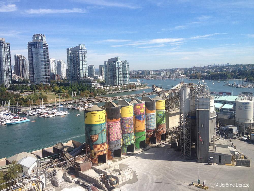 silos sur l'Île Granville