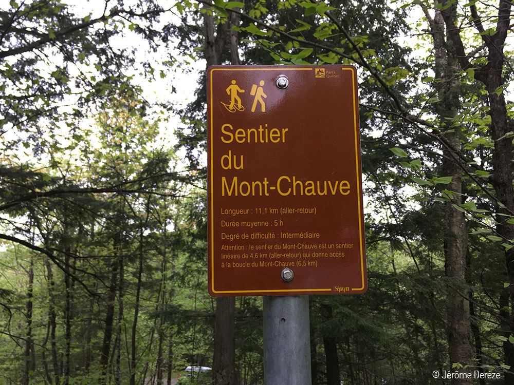 Parc national du Mont-Orford - Sentier du Mont-Chauve