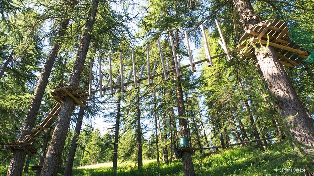 Activités à faire en été dans les Alpes - Accrobranche