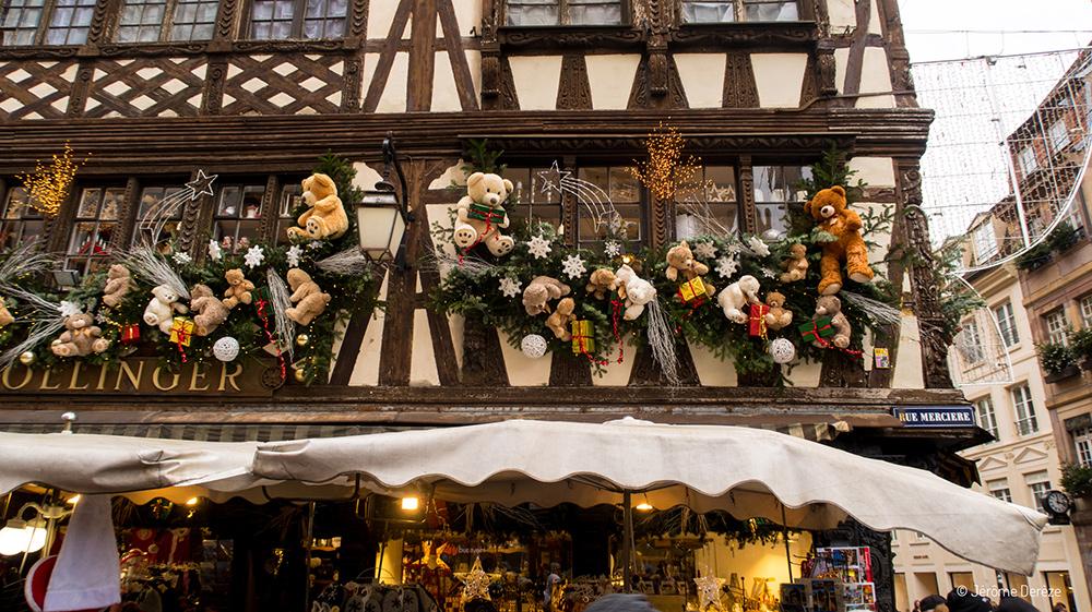 Décorations au marché de noël de Strasbourg
