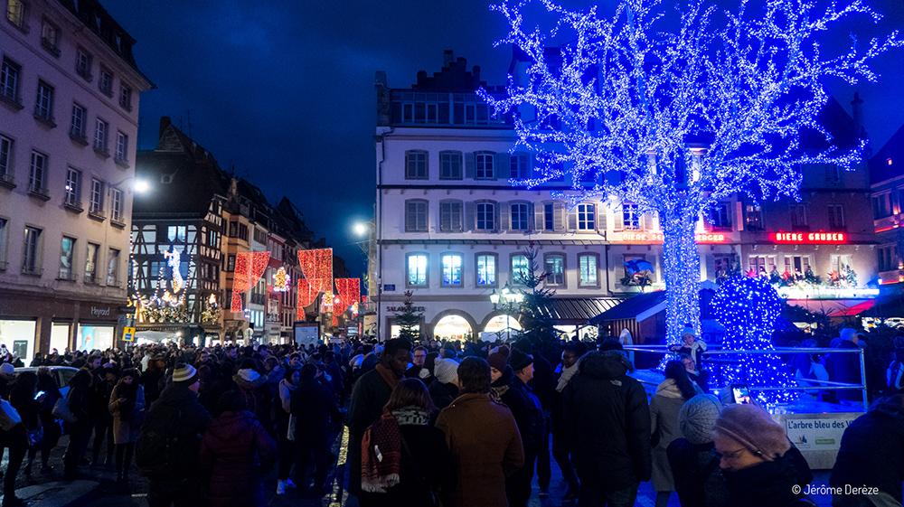 Place à Strasbourg pour le marché de noël